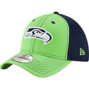 New Era Men's Seattle Seahawks Team Front Neo 39Thirty Flex Hat