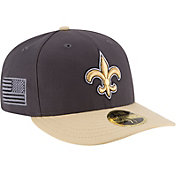 New Era Men's New Orleans Saints Crafted in America 59Fifty Graphite Fitted Hat