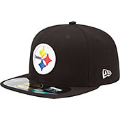 New Era Men's Pittsburgh Steelers Sideline Authentic 59Fifty Black Fitted Hat