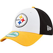 New Era Men's Pittsburgh Steelers Perfect Block White 9Forty Adjustable Hat
