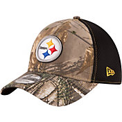 New Era Men's Pittsburgh Steelers Real Tree Neo 39Thirty Camouflage Flex Hat