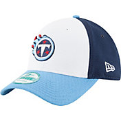New Era Men's Tennessee Titans Perfect Block White 9Forty Adjustable Hat