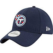 New Era Men's Tennessee Titans Perf Shore 9Twenty Navy Adjustable Hat