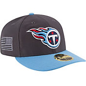 New Era Men's Tennessee Titans Crafted in America 59Fifty Graphite Fitted Hat