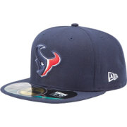 New Era Men's Houston Texans Sideline Authentic 59Fifty Navy Fitted Hat