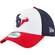 New Era Men's Houston Texans Perfect Block White 9Forty Adjustable Hat