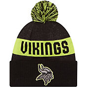 New Era Men's Minnesota Vikings Sport Cyber Yellow Knit Beanie