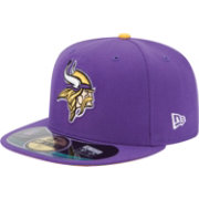 New Era Men's Minnesota Vikings Sideline Authentic 59Fifty Fitted Purple Hat
