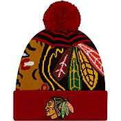 New Era Men's Chicago Blackhawks Logo Whiz Knit Hat