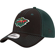 New Era Men's Minnesota Wild 39Thirty Neo Black Front Flex Hat