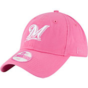 New Era Women's Milwaukee Brewers 9Twenty Pink Preferred Pick Adjustable Hat