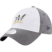 New Era Women's Milwaukee Brewers 9Twenty Sparkle Shade White/Grey Adjustable Hat
