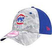 New Era Women's Chicago Cubs 9Forty Glamo Camo Royal Adjustable Hat
