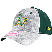 New Era Women's Oakland Athletics 9Forty Glamo Camo Green Adjustable Hat