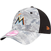 New Era Women's Miami Marlins 9Forty Glamo Camo Black Adjustable Hat