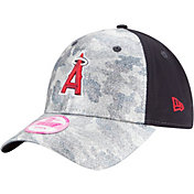 New Era Women's Los Angeles Angels 9Forty Glamo Camo Navy Adjustable Hat