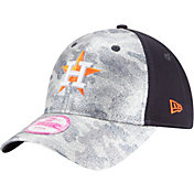 New Era Women's Houston Astros 9Forty Glamo Camo Navy Adjustable Hat