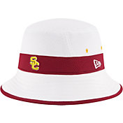 New Era Men's USC Trojans Training Performance White Bucket Hat