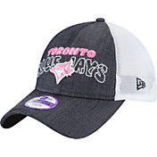 New Era Youth Girls' Toronto Blue Jays 9Twenty Denim Stitcher Adjustable Hat