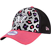 New Era Youth Girls' Milwaukee Brewers 9Forty Cheetah Chic Adjustable Hat