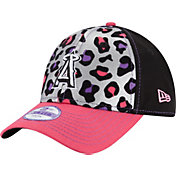 New Era Youth Girls' Los Angeles Angels 9Forty Cheetah Chic Adjustable Hat