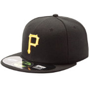New Era Youth Pittsburgh Pirates 59Fifty Game Black Authentic Hat