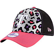New Era Youth Girls' Texas Rangers 9Forty Cheetah Chic Adjustable Hat