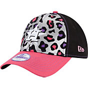 New Era Youth Girls' Houston Astros 9Forty Cheetah Chic Adjustable Hat