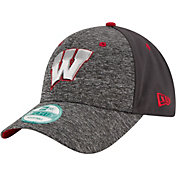 New Era Youth Wisconsin Badgers Grey The League Shadow 9Forty Adjustable Hat