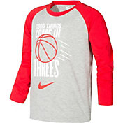 Nike Little Boys' Good Things Come In Threes Long Sleeve Shirt