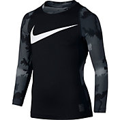 Nike Boys' Pro Hyperwarm Long Sleeve Shirt