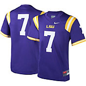 Nike Boys' LSU Tigers #7 Purple Football Game Jersey