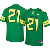Nike Boys' Oregon Ducks #21 Apple Green Game Football Jersey