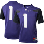 Nike Boys' Washington Huskies #1 Purple Game Football Jersey