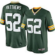 Nike Boys' Home Game Jersey Green Bay Packers Clay Matthews #52