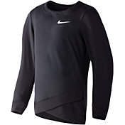 Nike Little Girls' Dri-FIT Crossover Long-Sleeved Sweatshirt