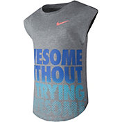 Nike Little Girls' Awesome Without Trying Modern T-Shirt