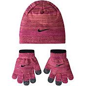 Nike Little Girls' Flyknit Beanie and Gloves Set
