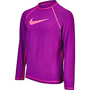 Nike Girls' Hydro UV Long Sleeve Swim Shirt Rash Guard