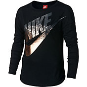 Nike Girls' Novelty Metal Long Sleeve Graphic Shirt