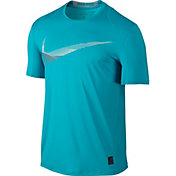 Nike Men's Pro Cool Fitted Swoosh Graphic T-Shirt