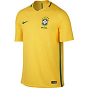 Nike Men's Brazil Authentic Home Jersey