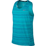 Nike Men's Dri-FIT Cool Tailwind Stripe Printed Sleeveless Running Shirt