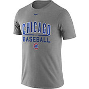Nike Men's Chicago Cubs Practice Grey T-Shirt