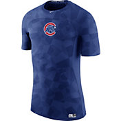 Nike Men's Chicago Cubs Hypercool Authentic Collection Royal Performance T-Shir