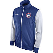 Nike Men's Chicago Cubs Royal/White Full-Zip Track Jacket
