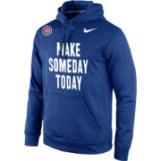 "Nike Men's Chicago Cubs ""Make Someday Today"" Therma-FIT Royal Performance Hoodie"