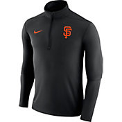Nike Men's San Francisco Giants Dri-FIT Black Element Half-Zip Jacket