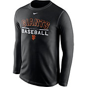Nike Men's San Francisco Giants Practice Black Long Sleeve Shirt