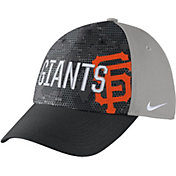 Nike Men's San Francisco Giants Dri-FIT Black/Grey Swoosh Flex Fitted Hat